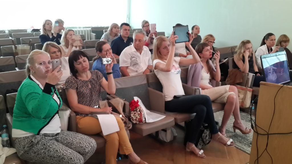 Профессиональные косметологи на семинаре Бородько